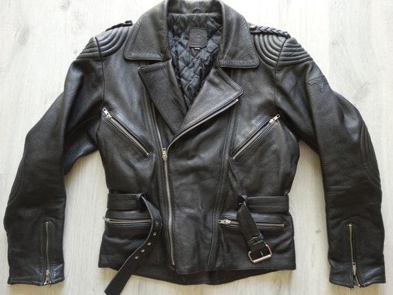 Vintage Biker Black leather jacket,Leather Jacket