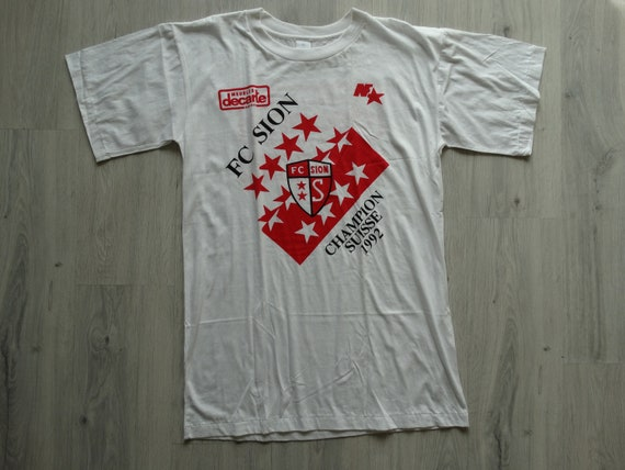 FC Sion Champion suisse 1992 shirt Single stitch s