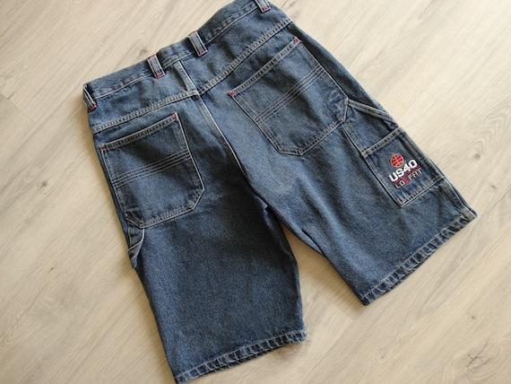 US40 Shorts Jeans pants 90s hip hop clothing ,vint
