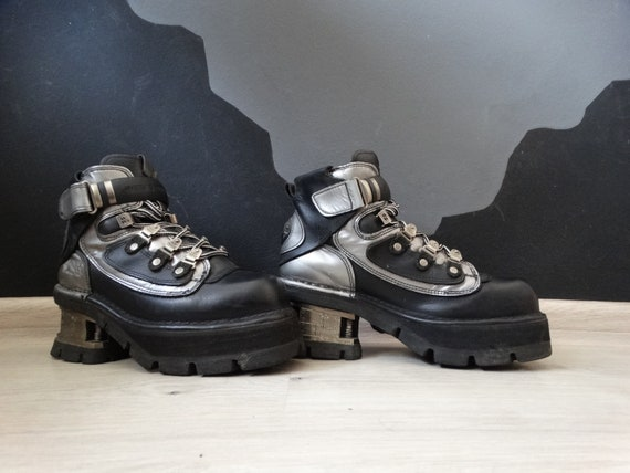 New Rock Cyber Goth Boots 90's Vintage Gotic Platf