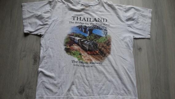 Vintage Thailand shirt 90s The Bridge on the River