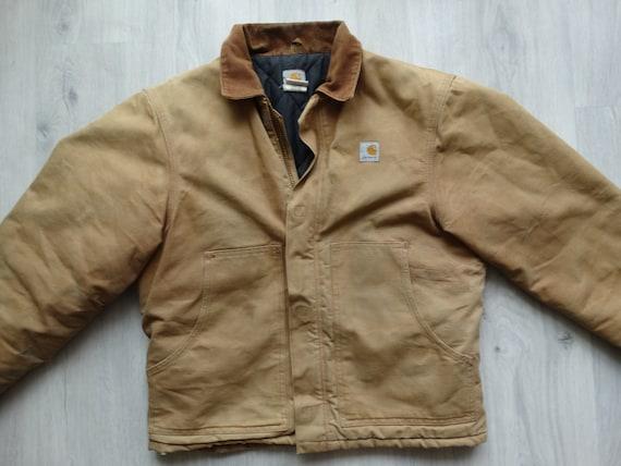 Vintage CARHARTT Workwear Jacket Brown Mens Carha… - image 2