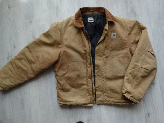 Vintage CARHARTT Workwear Jacket Brown Mens Carha… - image 10