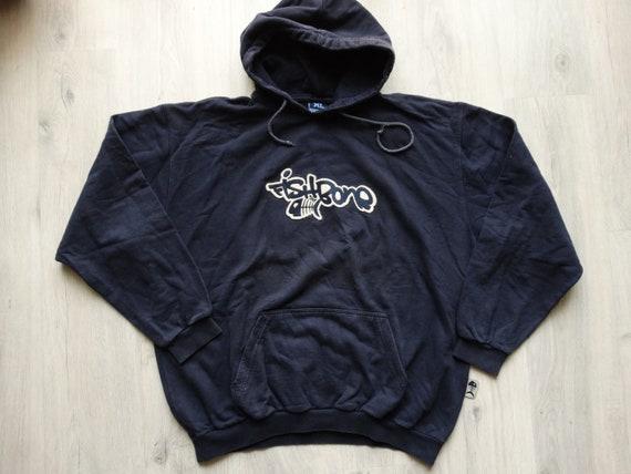 Vintage 90s Fishbone dark-navy hoodie size XL Hip