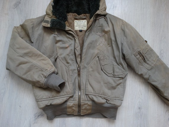 Vintage Mens Alpha Industries Hooded Jacket Size M