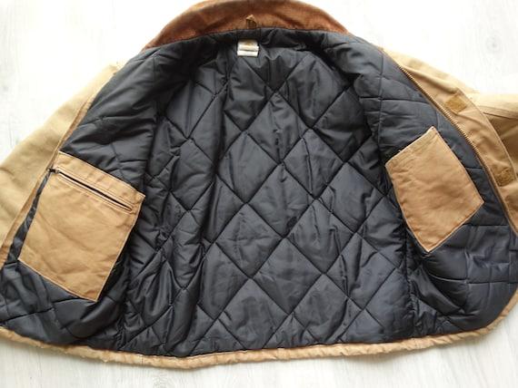 Vintage CARHARTT Workwear Jacket Brown Mens Carha… - image 9