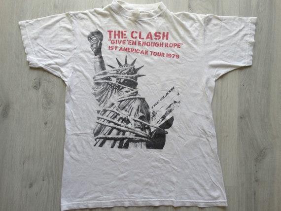 The Clash Punk rock band shirt The Clash Give Em E