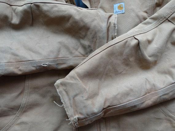Vintage CARHARTT Workwear Jacket Brown Mens Carha… - image 4