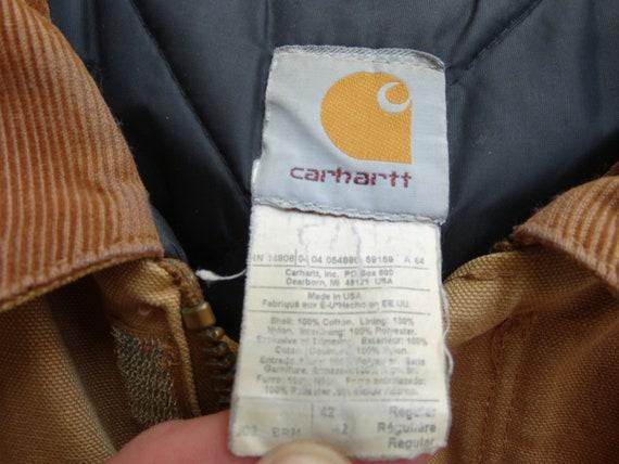 Vintage CARHARTT Workwear Jacket Brown Mens Carha… - image 5