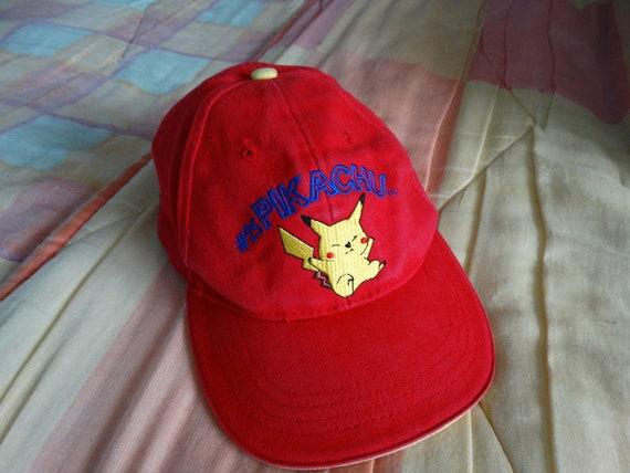 Vintage Pikachu Pokemon teen Hat Cap Nintendo cap