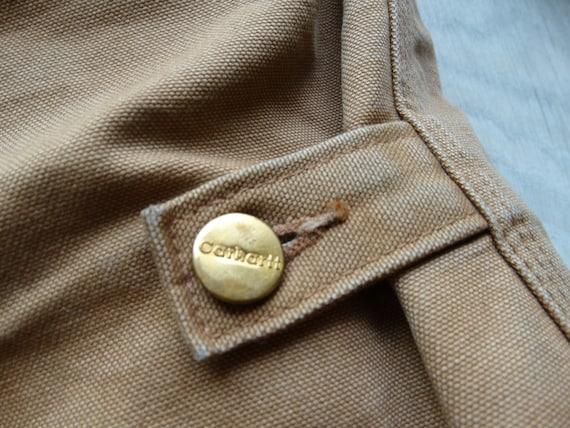 Vintage CARHARTT Workwear Jacket Brown Mens Carha… - image 8