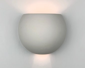 """9.5""""W Globe Up & Down Light Modern Wall Washer Sconce, Indoor/Outdoor Architectural Ceramic Ambiance Lighting, Paintable ANY Custom Color"""