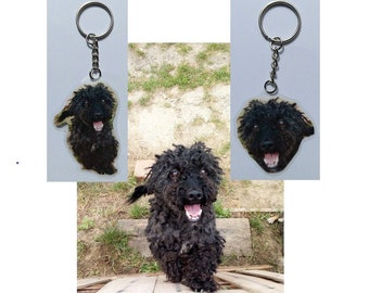 Custom picture unique keychain, keyring, gift about pet, children etc. Laminated waterproof charm
