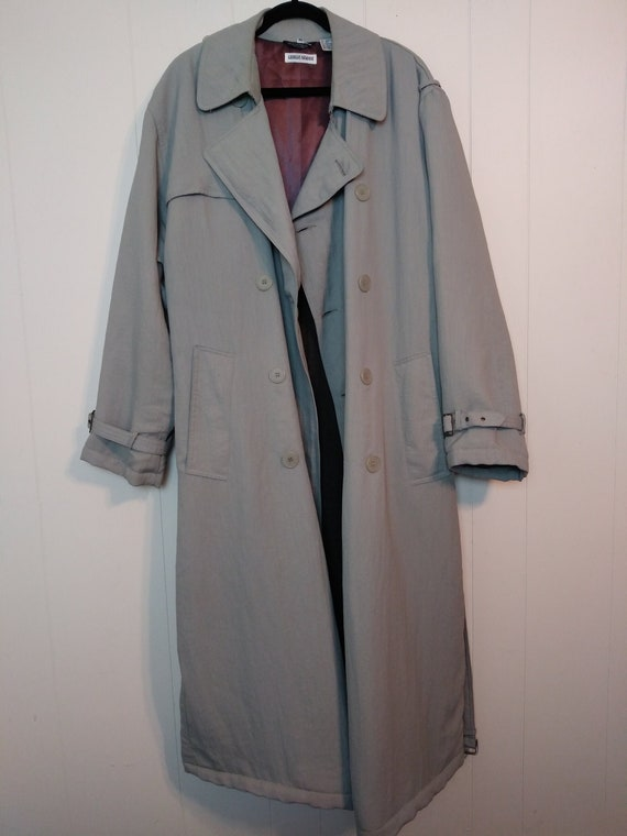 Vintage Giorgio Armani Double Breasted Trench Coat