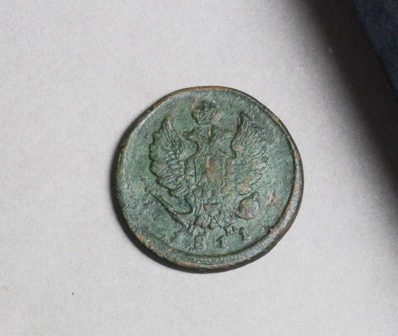 Original Russian  ancient coin 1811 Antique copper 2 kopeck coin