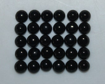 Natural Black Onyx Round Cabochon  12 mm  Smooth Round Cabochon