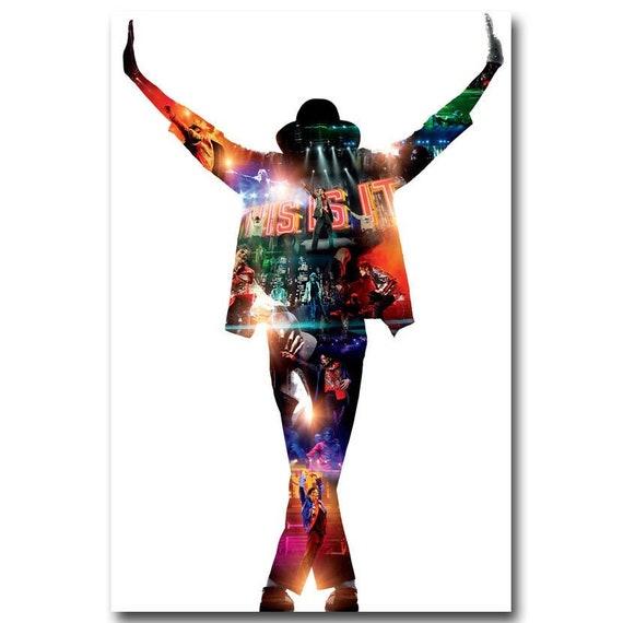 Michael Jackson Dancing Hot Music Singer Art Silk poster 12x18 24x36