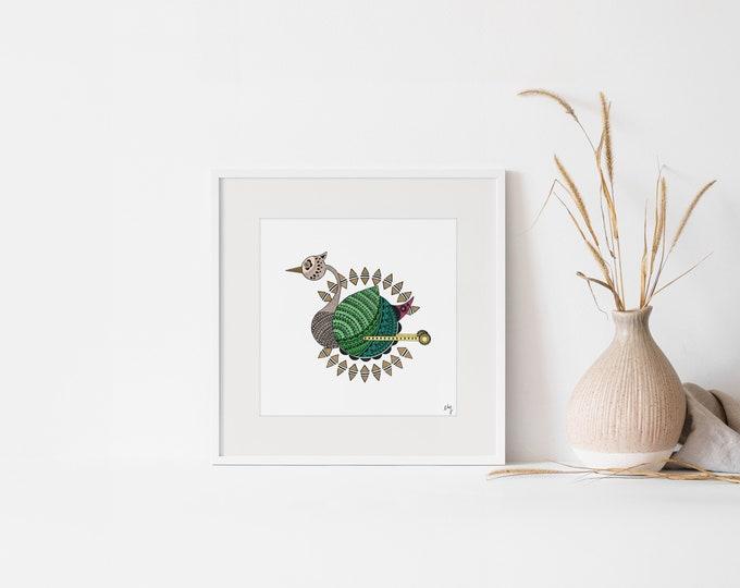 "Featured listing image: PRINT - ILLUSTRATION ""Cygogne"" - Print on art paper"