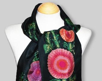 Black Batik scarf 1