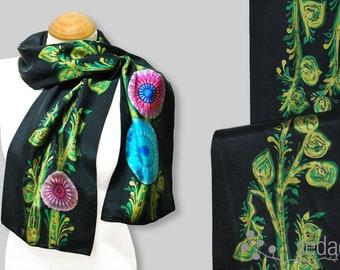 Black Batik scarf 2