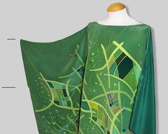 Abstract Batik Bluson in Green