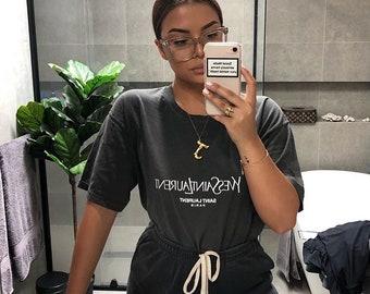 fe5538fa0ac Yves Saint Laurent Tee Ash Grey Turquoise Kanye West Vlone Palace CDG  Unisex Ysl Mens Womens Kids T-shirt Yves Saint Laurent Unisex Shirt