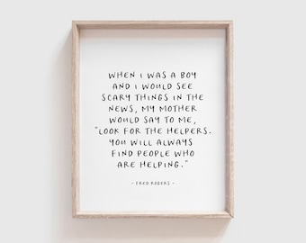 Mr rogers quote | Etsy