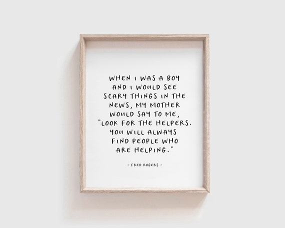 Mr Rogers Quote Fred Rogers Quote Instant Download Etsy