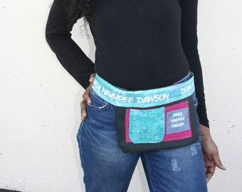 Designer Belt / Phone Holder / Pocket Belt / Stylish pink turquoise Belt Emily Nayhree Dawson