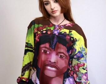 Streetwear Sweatshirt, Urban style clothing, Streetwear for Women by Emily Nayhree Dawson, Urban artwear sweatshirt, Urban Streetwear Top