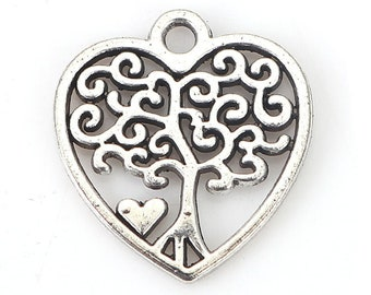 Wholesale 40//80Pcs Tibetan Silver(Lead-Free)Letter Charms Pendants 20x9mm