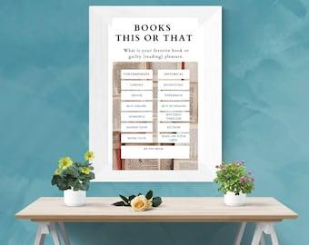 Books This or That Digital Wall Art PDF