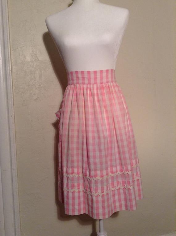 Vintage 1950s Mid-Century Cotton Apron