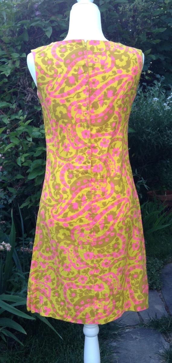 Vintage 60s A-Line Dress - image 5