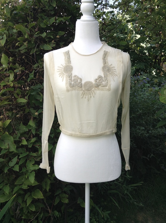 1910s Antique Vintage Edwardian Blouse
