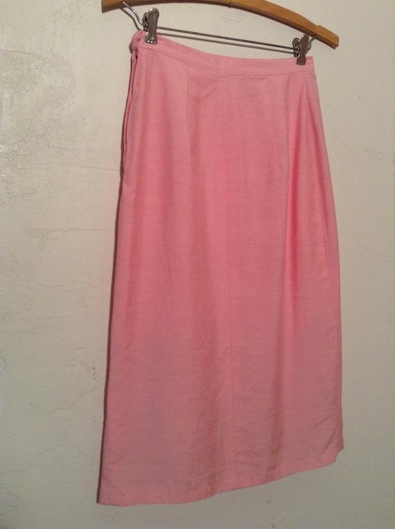 Vintage 1950s Pink Pencil Skirt