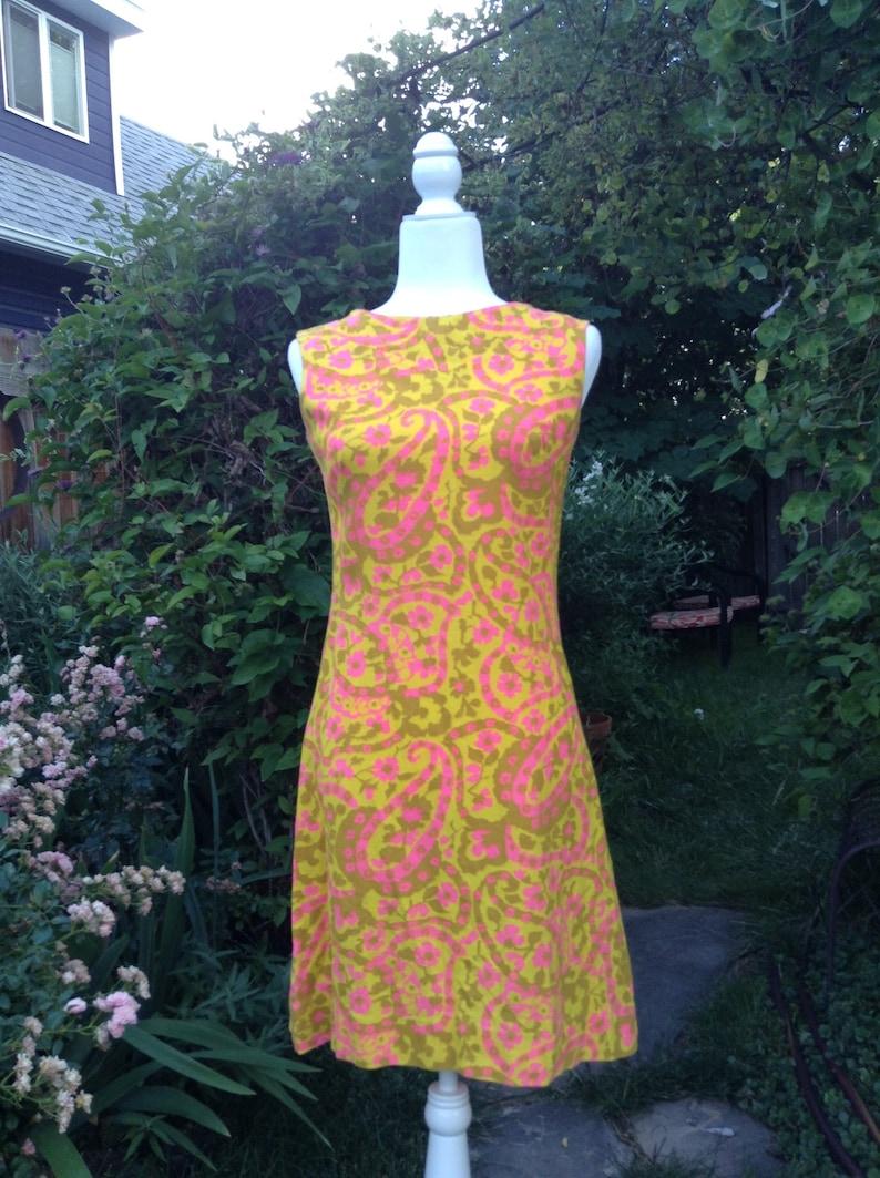 Vintage 60s A-Line Dress