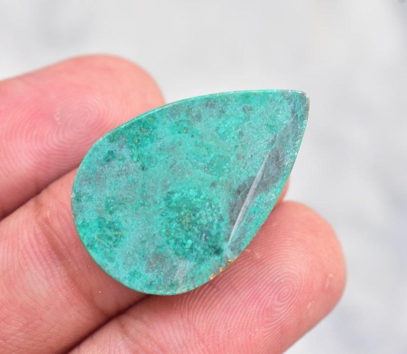 Arizona Turquoise Cabochon  Top Quality Arizona Turquoise  Gemstone  For Jewelry  Pear Shape 15.70 Ct 28X18X4 mm Loose Gemstone B-988
