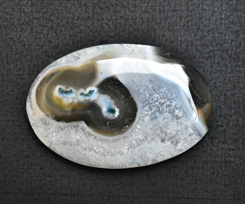 Loose Gemstone SK-547 Solar Moss Agate Cabochon  Solar Moss Agate Gemstone  For Jewelry  Oval Shape 49.95 Ct 40X26X5 mm