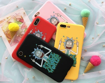49b0acc80e3 Peace Among Worlds Cartoon Rick And Morty Phone Case for iPhone 5 5s 6 6s 7  8 Plus X XR XS Max Silicon Rubber Funny Quote Yellow Black Case