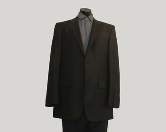 Feraud Designer Charcoal Grey Wool Suit With Cuffed Pants - XL & Tall