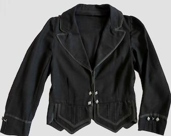 Boys Antique, Vintage, Highland Doublet - Scottish Jacket - Edwardian