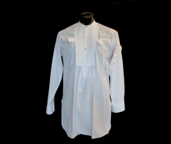Collarless Dress Shirt by Eldridge & Young - 1940s