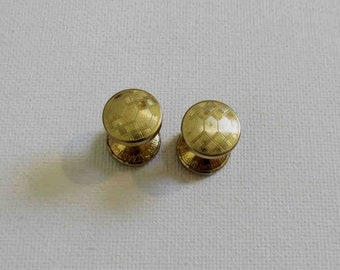 Gold Tone Retractable Chain Link Cuff Links