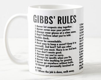 photo regarding Ncis Gibbs Rules Printable List named Gibbs pointers Etsy