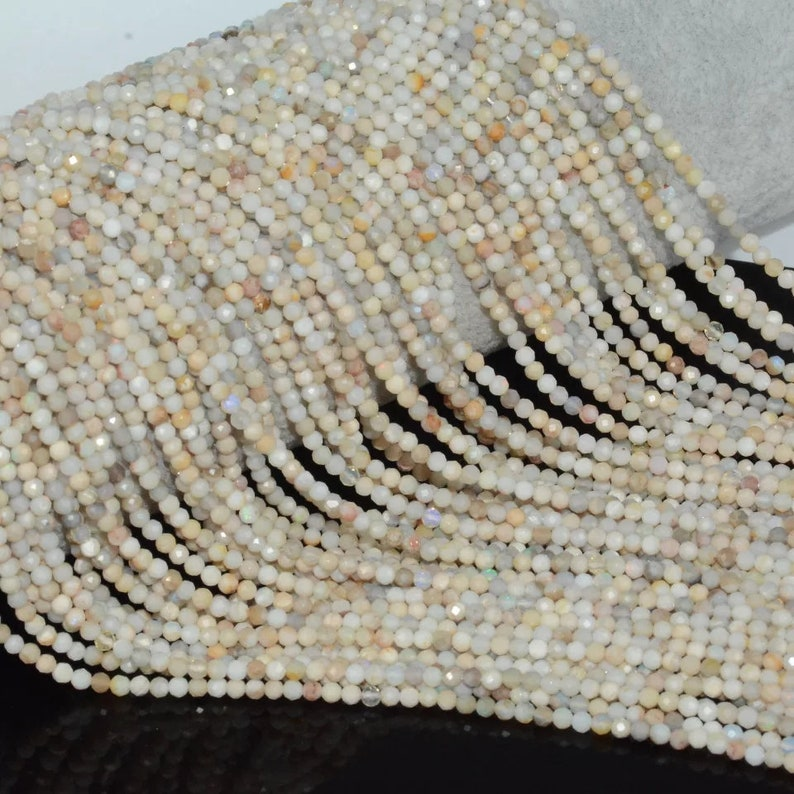 Natural Faceted Precious Opal Beads AAA Quality 2.5MM Size available,Faceted Bead,Smooth Faceted Beads Jewelry Making,Polished Opal Beads