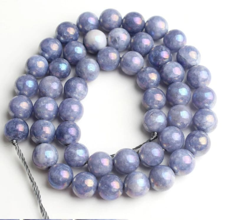 Dark Blue Angelite Beads AAA Quality 4,6,8,10,12MM Size available,Round Beads,Smooth Beads,Jewelry Making,Polished Loose  Angelite Beads