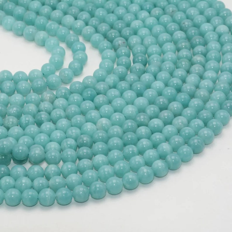 Natural Good Color Amazonite Beads AAA Quality 8MM Size available,Round Beads,Smooth Round Beads,Jewelry Making,Polished Amazonite Beads