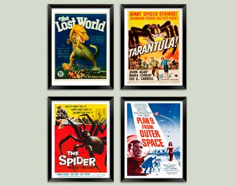 "Cult Film /""Spider-man/"" Classic Vintage Sci-Fi Movie Poster re-print A4 A3,"