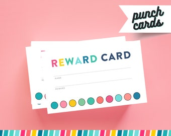 Printable Punch Card Etsy